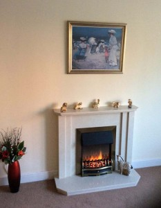 Genoa marble fireplace