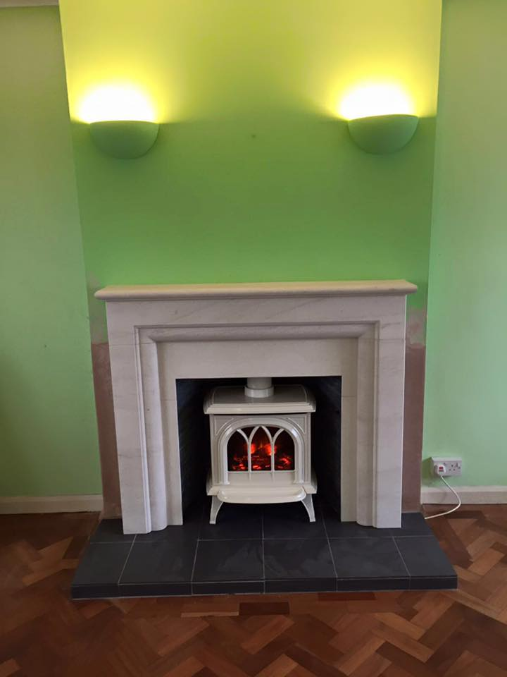 c elctric stove install