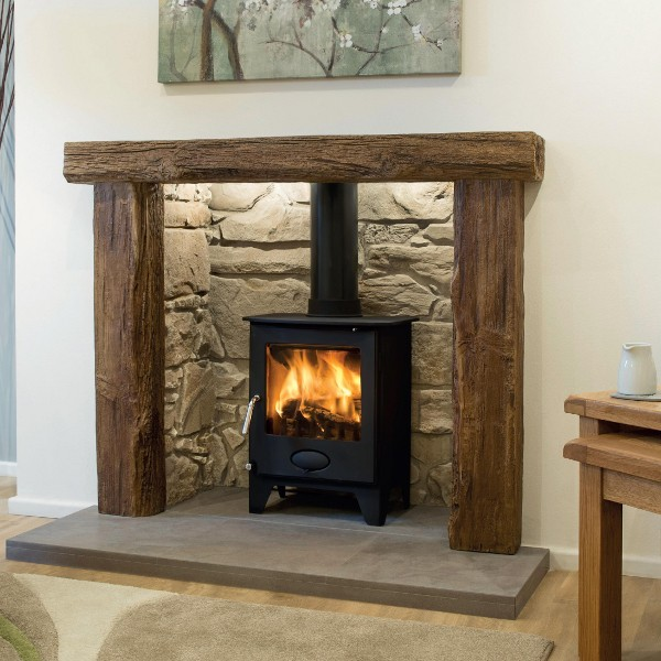 Modern inglenook fireplace designs beautiful new cottage for Kitchen ideas frimley