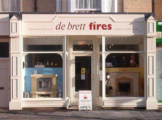 Debrett Fires Fire and Fireplace Showroom - Shop Front