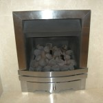 Contemporary brushed steel trim + front for focalpoint, Eko, firecraft fire