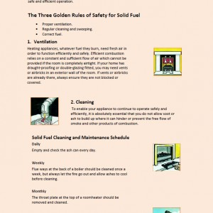 Safety guide for solid fuel