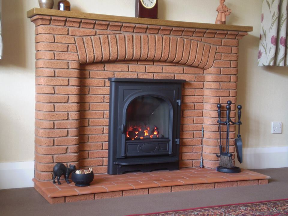Laying Fire Brick For Fireplace : Gazco stockton in existing brick fireplace debrett fires