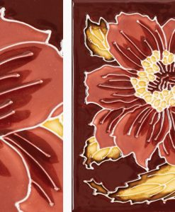 Stovax Chrysanthemum fireplace tiles