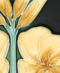 Stovax Evening Primrose Fireplace Tiles Victorian tiles