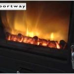 Portway 2 Glass Multifuel Stove Free Lighting Box