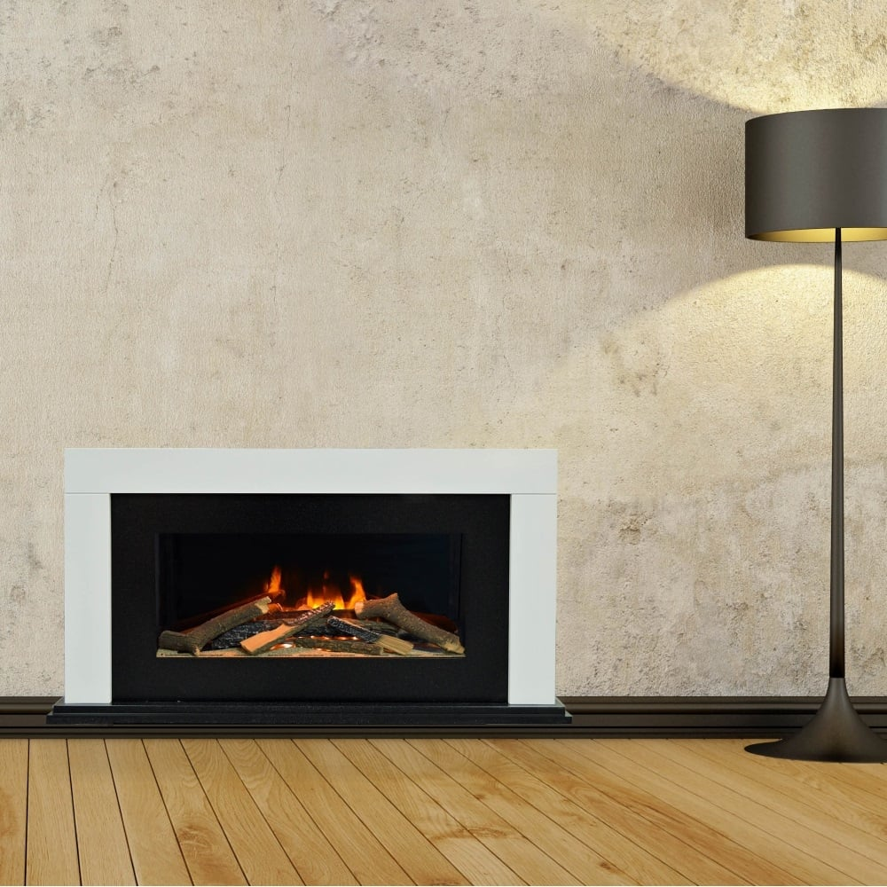 evonic ohio 700 contemporary electric fire suite evoflame effect