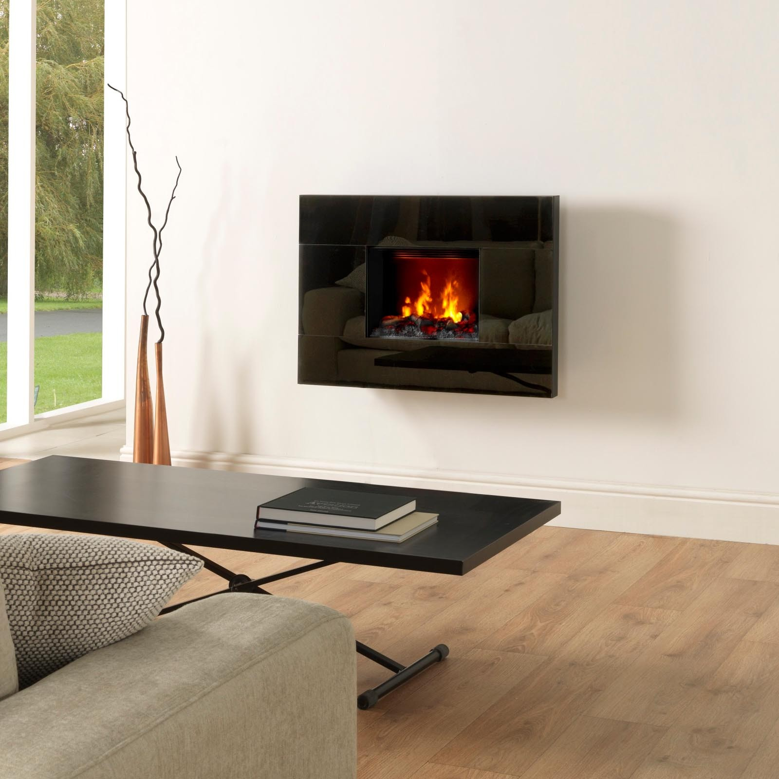 Dimplex Tahoe Hang On The Wall Electric Fire Suite