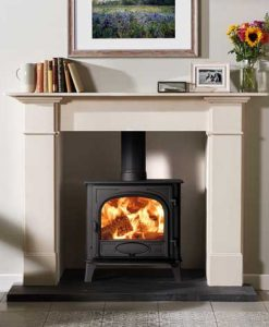 Stovax-Stockton-5W-single-door-woodburning-and-Claremont-Limestone-Mantel-mi