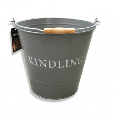 Large Kindling Bucket - Grey